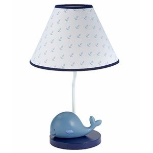 "NWT Brody Nautical Whale Table Lamp 15"" Boy's"